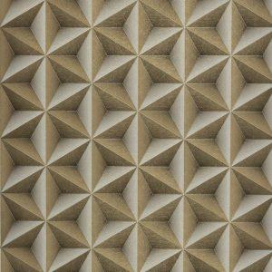 Papel de Parede Vinílico 3D Geométrico Dourado e Prata 6ee49824f90